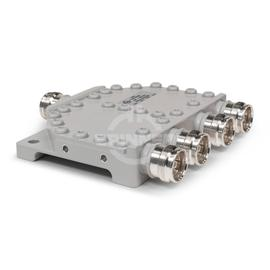 Coaxial 4-way splitter stripline 200 W 380-3800 MHz 4.3-10 female product photo