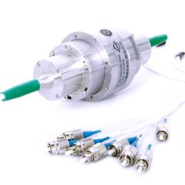 12 channel fiber optic rotary joint multimode SC-PC/no connector IP 50 product photo