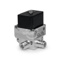 Coaxial 2-way switch (DPDT) 790 W DC-5 GHz 28 VDC N female latching product photo